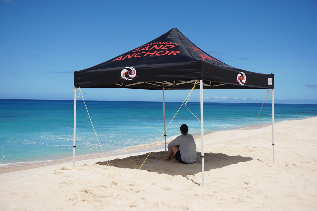 10 X Pop Up Tent On A 20 Mph Day 2 Hawaiian Sand Anchors Used